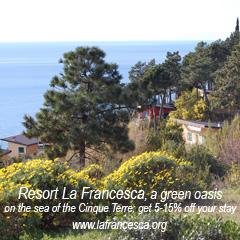 5%-15% off La Francesca Villas in Tuscany. Enter Promo Code: EagleGazing
