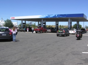 Gas Station Chile, Santiago Petrol, fuel in south america